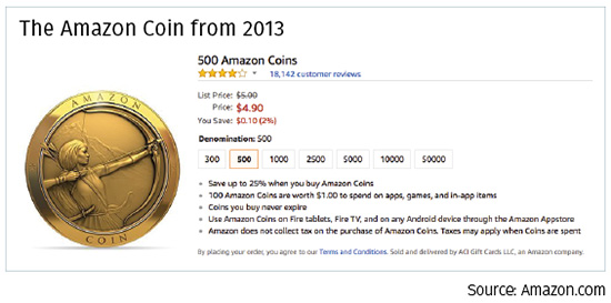 amazon coin from 2013