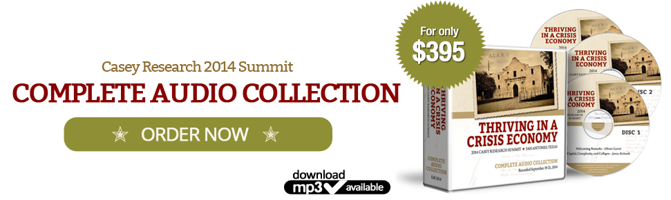 Casey Research Complete 2014 Summit Audio Collection